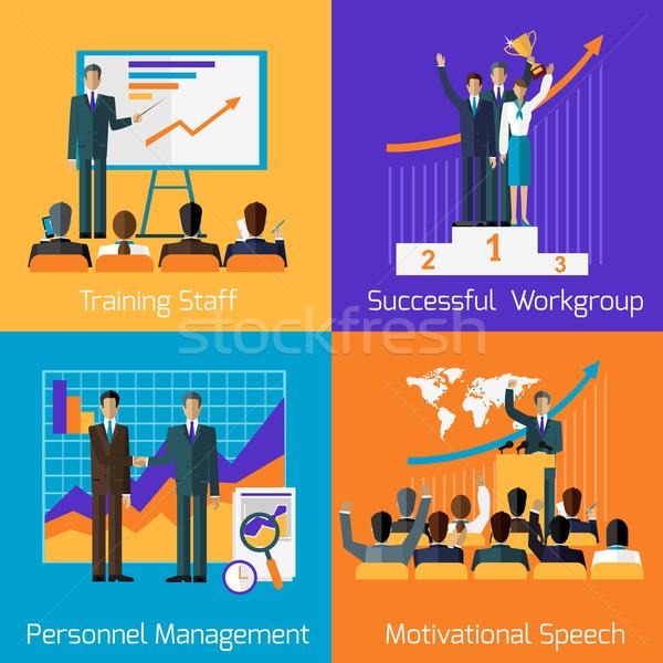ビジネス 訓練 成功 やる気を起こさせる セット ワークグループ ストックフォト © robuart