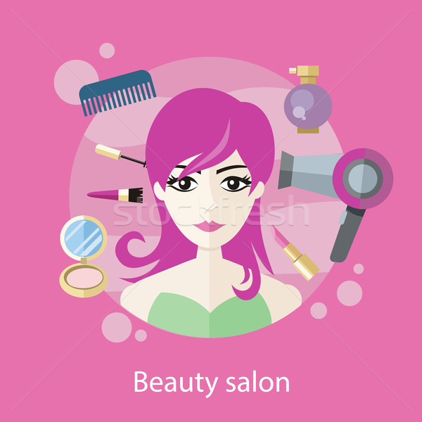 Beauty Salon Concept Flat Style Design Stock photo © robuart