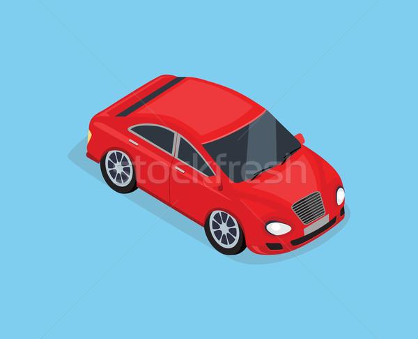 3D изометрический высокий качество седан автомобиль Сток-фото © robuart