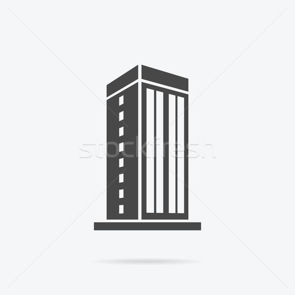 Rascacielos casa edificio icono rascacielos logo Foto stock © robuart