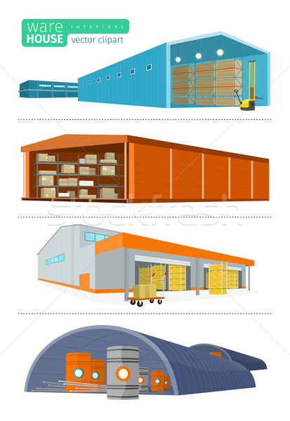 Infographics depo teslim kargo taşımacılık Stok fotoğraf © robuart