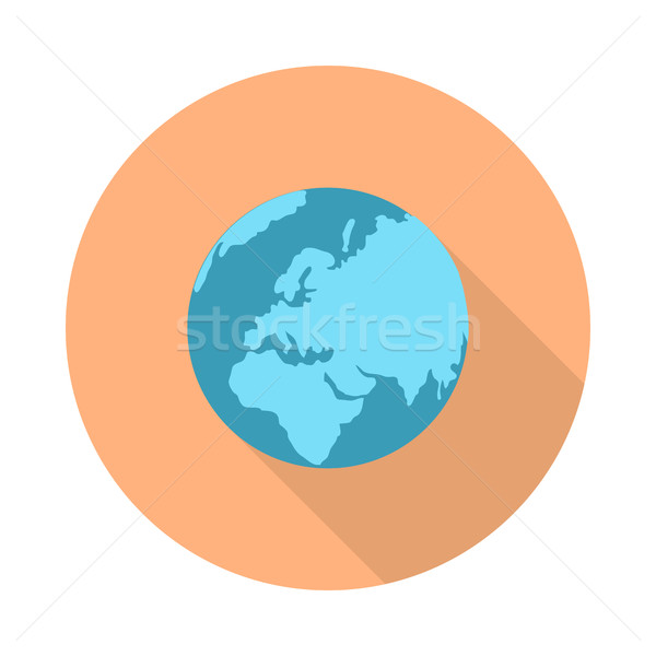 Pictograph Globe Icon Isolated on White. Stock photo © robuart