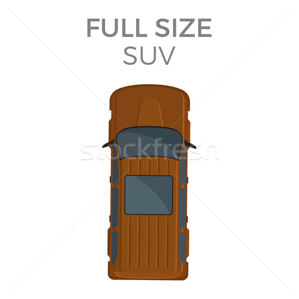 Full Size SUV Means of Transportation Isolated Stock photo © robuart