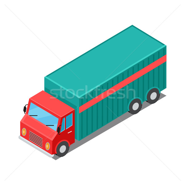 Delivery Van Truck Specialized to Deliver Cargo Stock photo © robuart