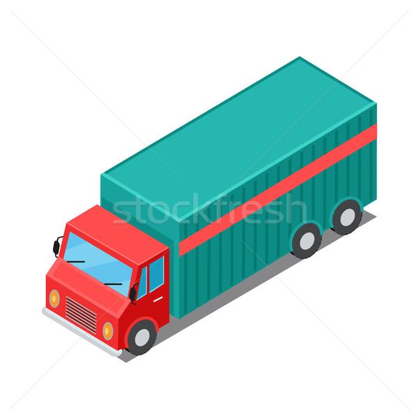 Kisteherautó teherautó teher házhozszállítás jármű izolált Stock fotó © robuart