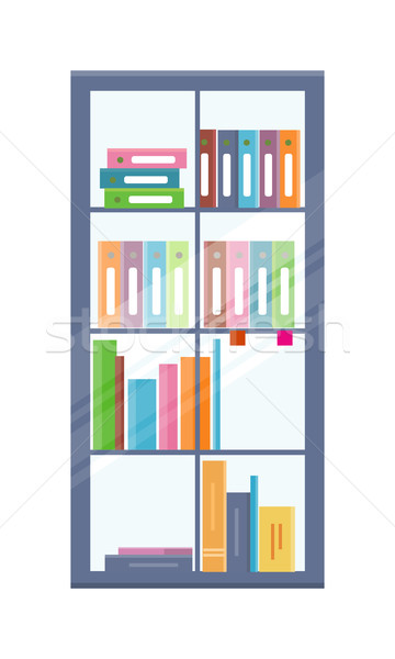 Office Bookcase with Folders Stock photo © robuart