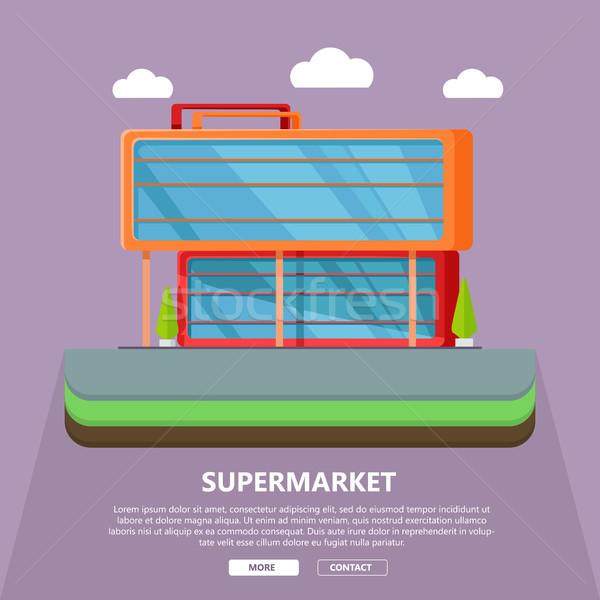 Stok fotoğraf: Süpermarket · web · şablon · dizayn · sayfa