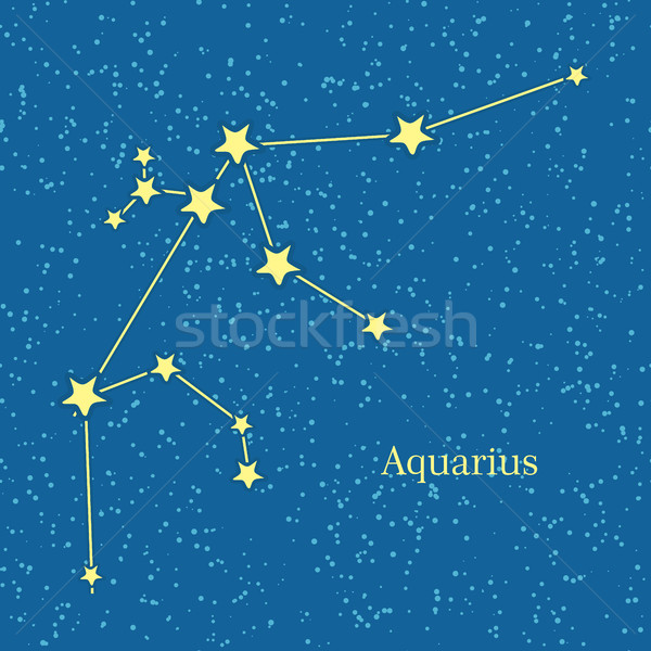 Aquarius Zodiac Sign Symbol Horoscope. Vector Stock photo © robuart