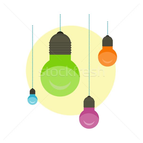 Idea Concept Background. Glowing Light Bulb Stock photo © robuart