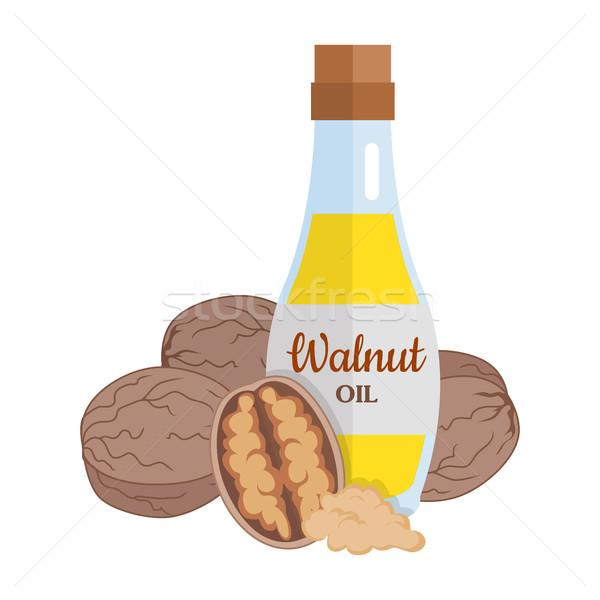Walnut Kernels with Walnut Oil. Stock photo © robuart