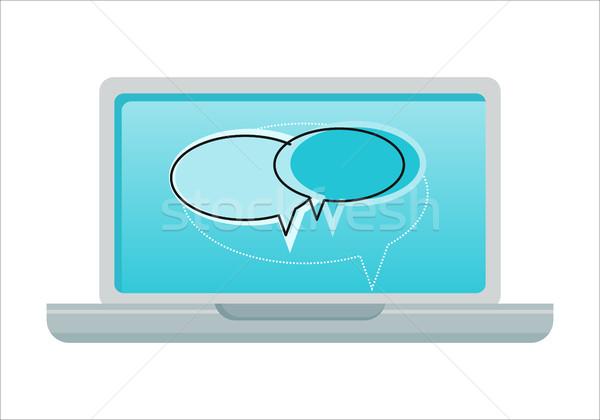 Laptop with Dialog Windows on Screen Stock photo © robuart