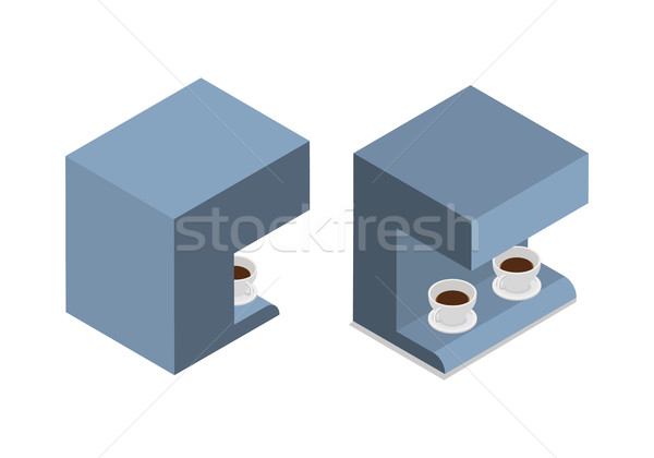 Automatic Coffee Machine with Two Cups of Coffee Stock photo © robuart