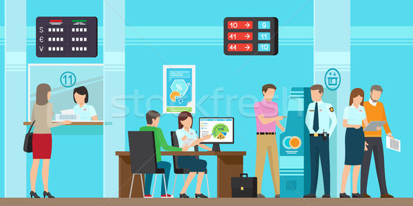Very High Quality Banking Service Illustration Stock photo © robuart