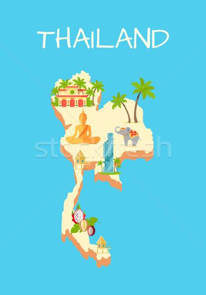 Isla aislado azur famoso turismo signos Foto stock © robuart