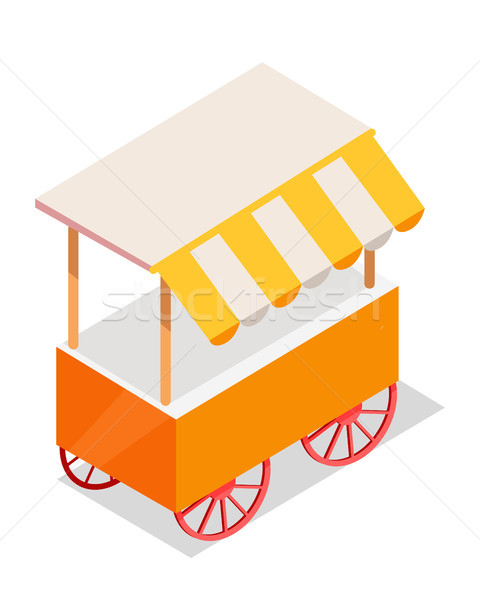 Street Cart Store on Wheels Isometric Vector Icon Stock photo © robuart