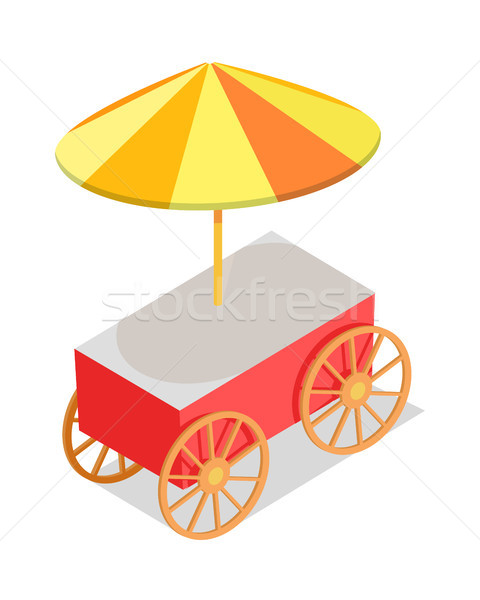 Colorful Streetfood Trolley Isolated Illustration Stock photo © robuart