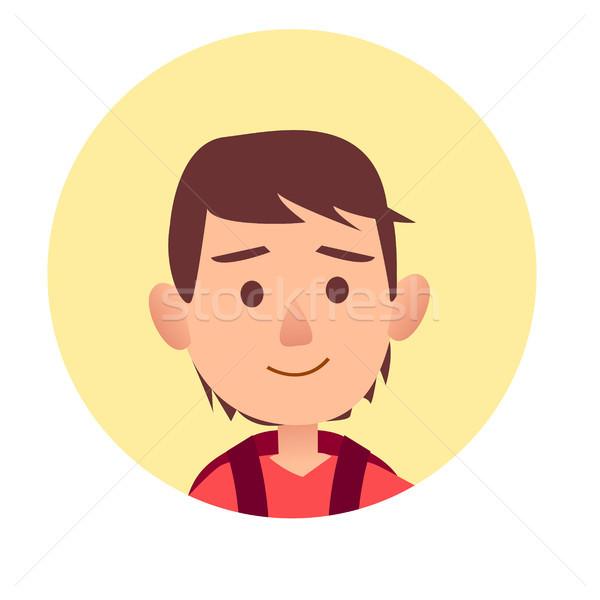 Boldog gyerek komoly arckifejezés tinédzser jóképű Stock fotó © robuart