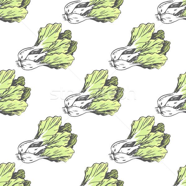 зеленый графических салата белый бесконечный текстуры Сток-фото © robuart