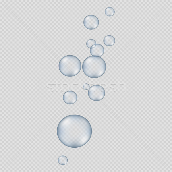 Big and Small Round Bubbles on Transparent Stock photo © robuart