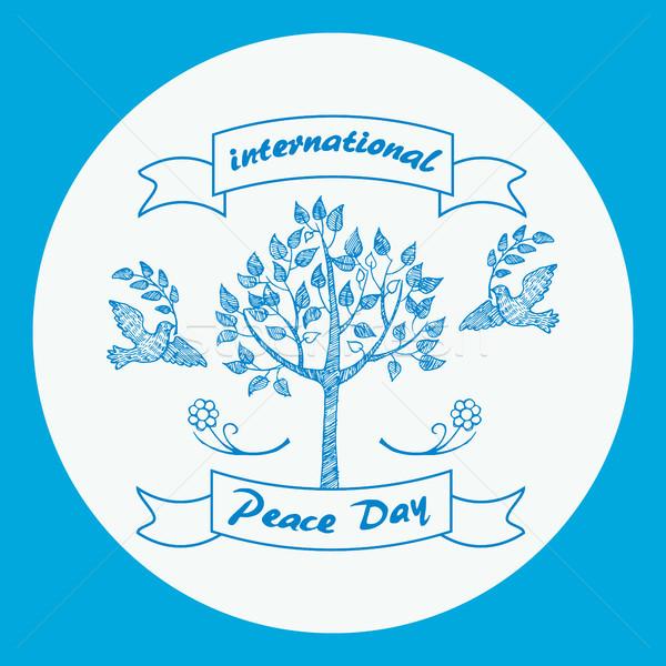 Nemzetközi nap béke promóciós poszter kettő Stock fotó © robuart