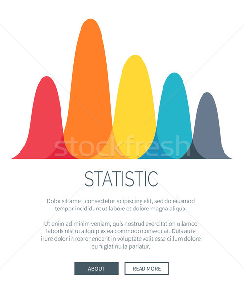 Statistic Presentation with Colorful Bar Graph Stock photo © robuart