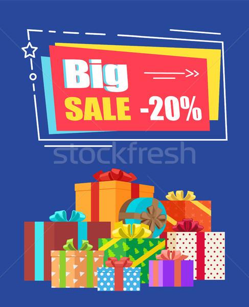 Big Sale -20 off Sign Banner Vector Illustration Stock photo © robuart