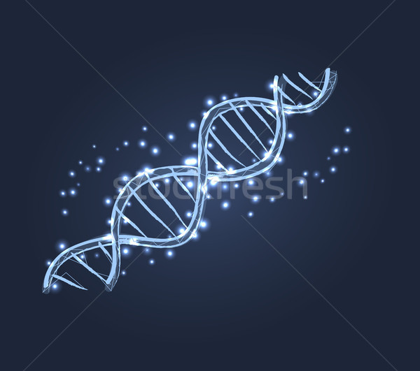DNA Code Structure Icon Vector Illustration Stock photo © robuart