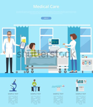 Hospital sala de operaciones enfermera habitación paciente cirujanos Foto stock © robuart