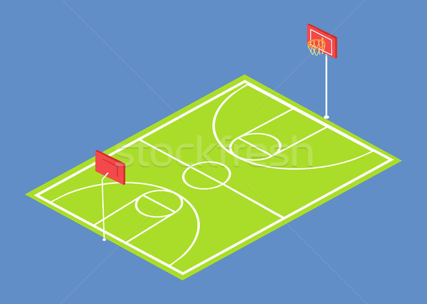 School Stadium 3 Dimensional Vector Illustration Stock photo © robuart