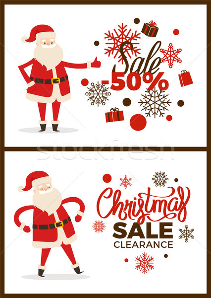 Christmas Sale Clearance Poster with Santa Claus Stock photo © robuart