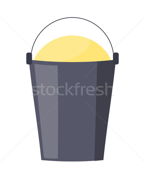 Stock photo: Bucket full of sand isolated on white poster