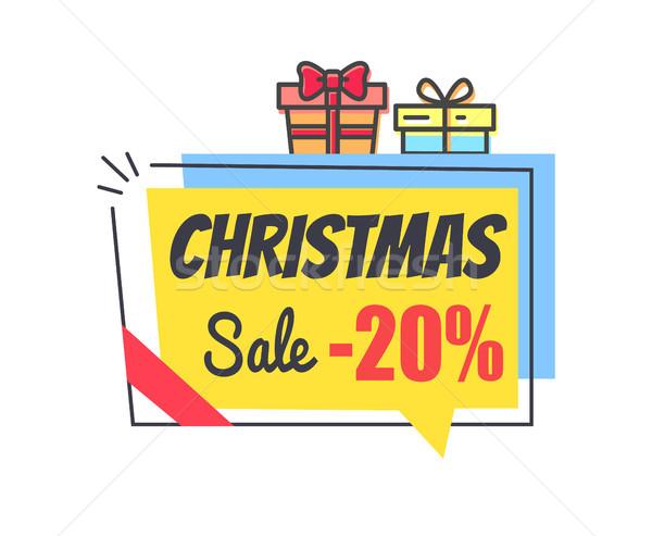 Foto stock: Natal · venda · promo · etiqueta · desconto · 20