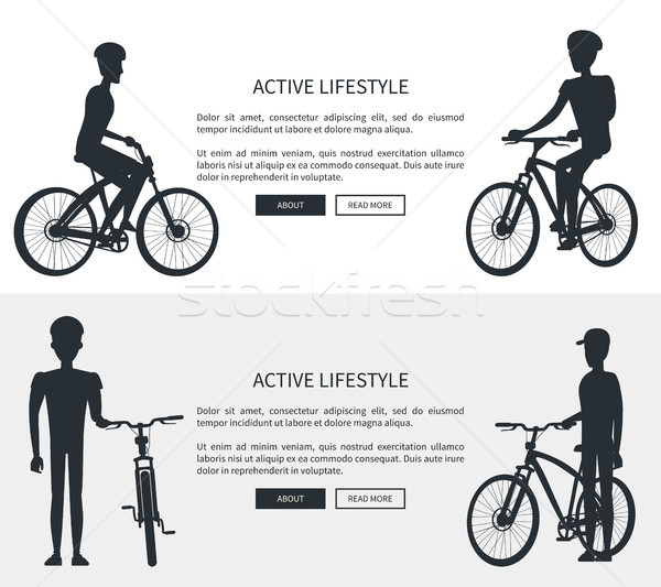 Active Lifestyle Silhouettes Vector Illustration Stock photo © robuart