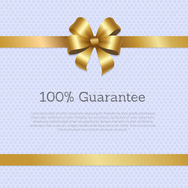 100 garanti kapak dizayn altın yay Stok fotoğraf © robuart