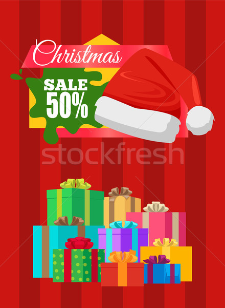 Advertising Banner Xmas Sale Poster Promo Label Stock photo © robuart