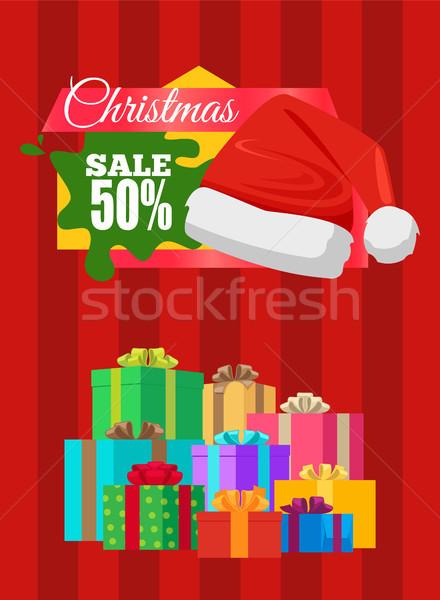Publicidade bandeira venda cartaz promo Foto stock © robuart