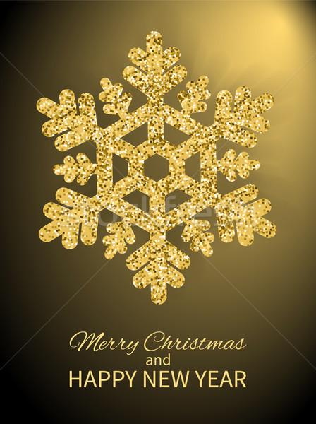 陽気な クリスマス 明けましておめでとうございます カバー デザイン ポスター ストックフォト © robuart