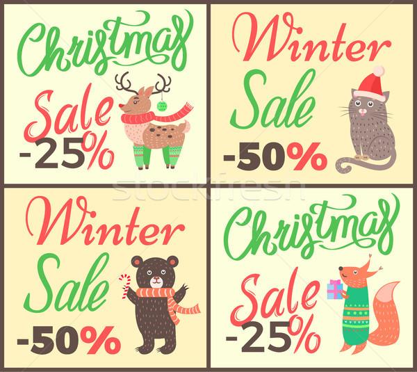 Reduziert-Plakat für Einzelhandel Werbeplakat Plakat Weihnachten