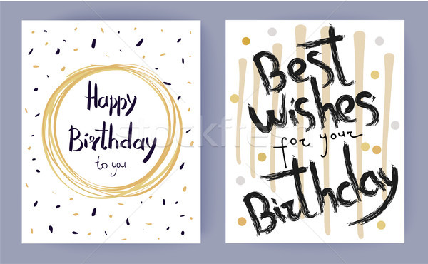 Happy Birthday Best Wishes Vector Illustration Stock photo © robuart