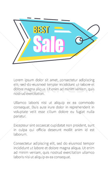 Best Sale Tag with Thread on Promotional Poster Stock photo © robuart