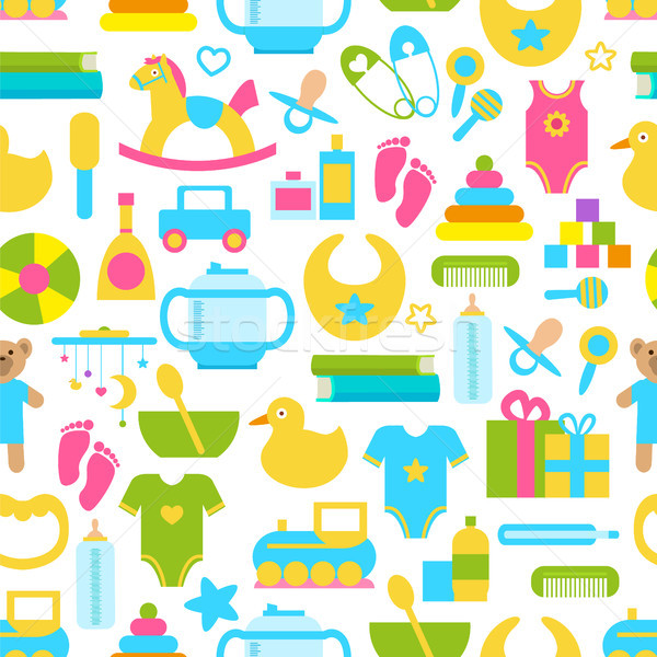 Toys for Children Set Pattern Vector Illustration Stock photo © robuart