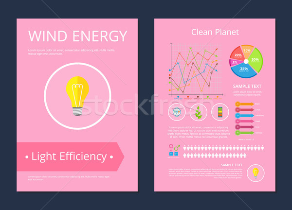 Wind Energy Clean Planet Light Efficiency Poster Stock photo © robuart