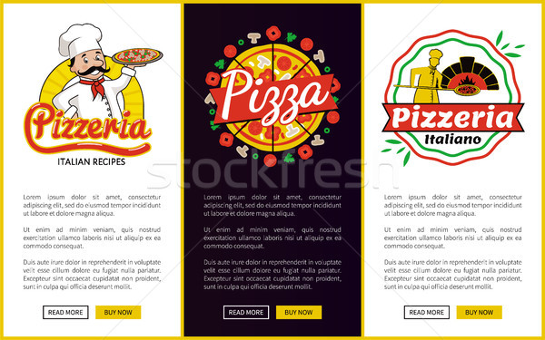 Pizzeria Collection of Web Vector Illustration Stock photo © robuart