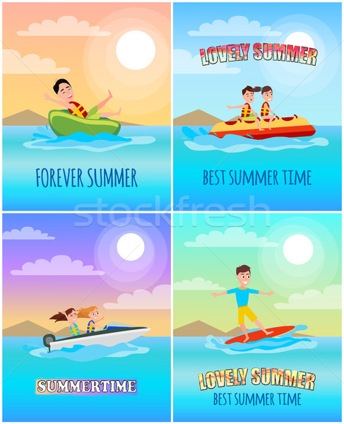 Forever Summertime Collection Vector Illustration Stock photo © robuart