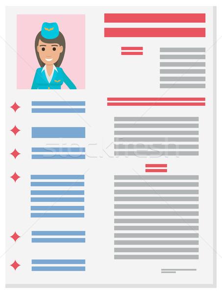 Utaskíserő karrier információ prospektus vektor önéletrajz Stock fotó © robuart