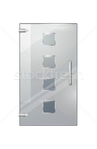 Verre porte transparent isolé quatre Photo stock © robuart