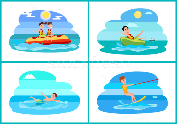 Surfing Collection of Sport Vector Illustration Stock photo © robuart