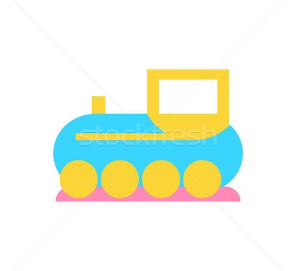 Stockfoto: Speelgoed · trein · kinderen · spelen · icon · kleurrijk