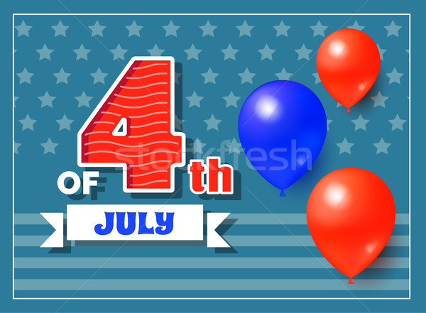 4th of July Holiday Banner Vector Illustration Stock photo © robuart