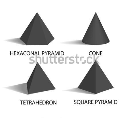 Cono vettore bianco piazza piramidi geometrica Foto d'archivio © robuart